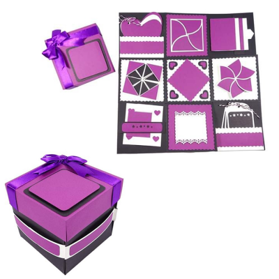Exploding love box purple
